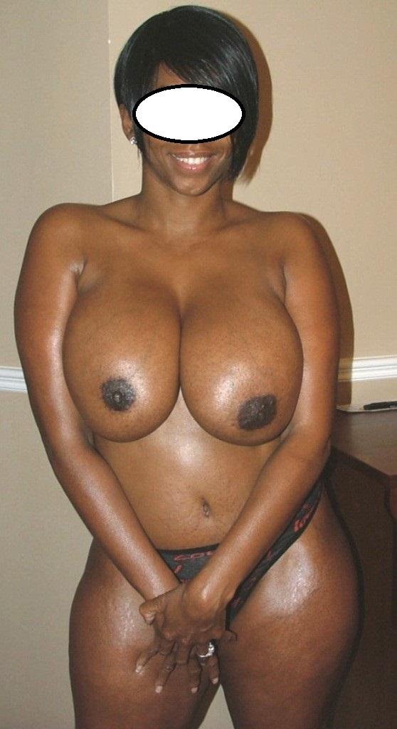 Topless mature ebony