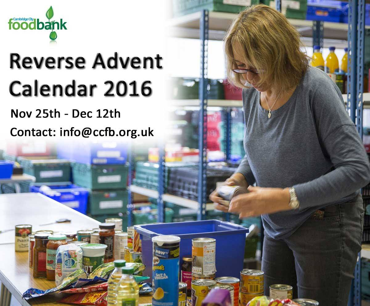 Utterly Scrummy Food For Families Food Bank Reverse Advent