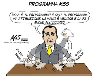m5s, programma, blog, il foglio, politica, vignetta, satira