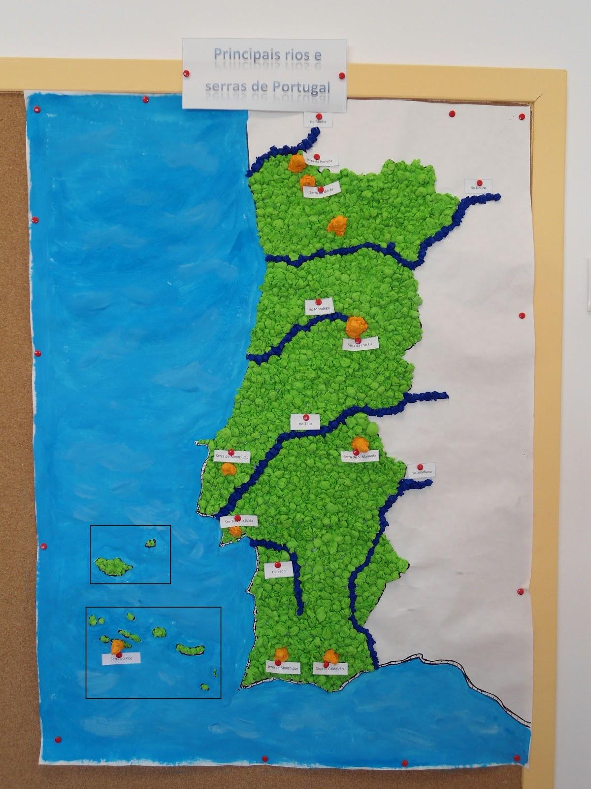 mapa de rios e serras de portugal Centro Escolar de Santa Margarida: Mais uma atividade mapa de rios e serras de portugal