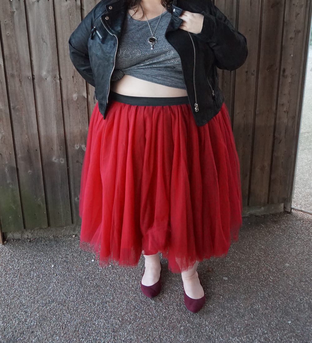 Society Plus formerly Cool Gal Blue burgundy tulle tutu skirt fat Carrie Bradshaw by Society Plus