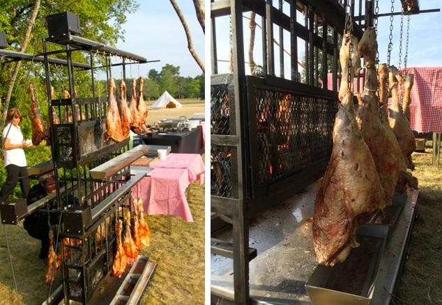 Traiteur pour événement Bordeaux Aquitaine - gigots d'agneau à la ficelle au barbecue
