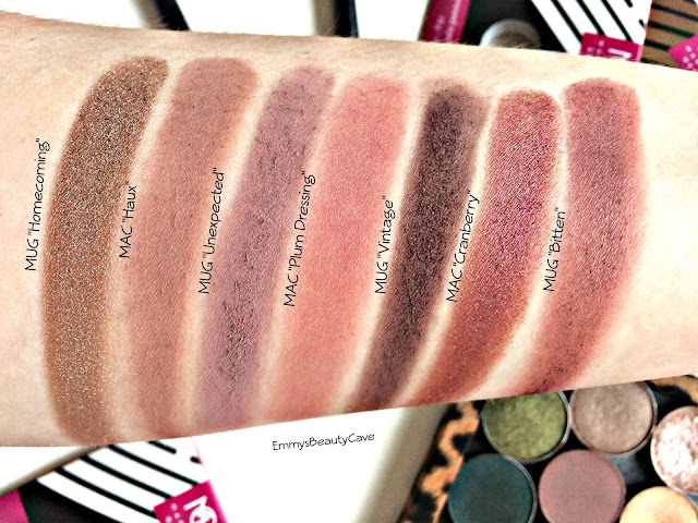Makeup Geek Eye Shadow Swatches, Makeup Geek Purple Eye Shadows, MAC Purple Eye Shadows