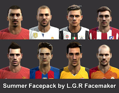 PES 2013 Summer Facepack By L.G.R Facemaker