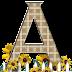 Abecedario con Cuadrícula y Margaritas. Alphabet with Daisies.