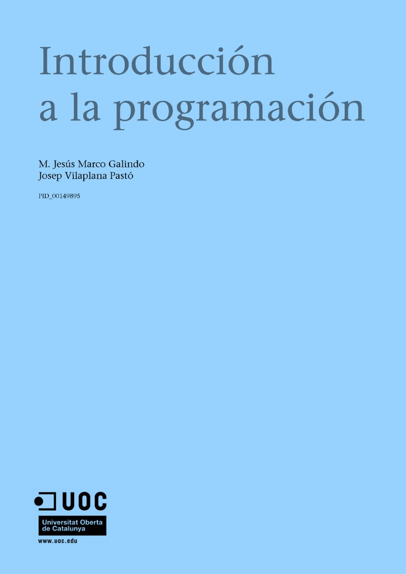 Introducción a la programación – UOC
