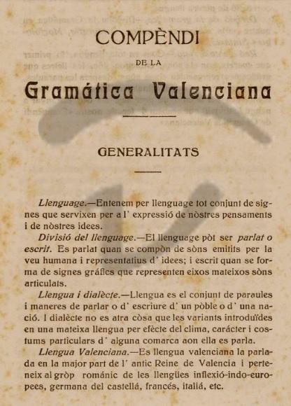 Compendi de Gramàtica Valenciana, 1921