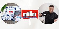 Logo Muller ''Scegli il gusto'' e vinci gratis tovagliette, libri di ricette e cooking class con lo Chef Damiano Carrara