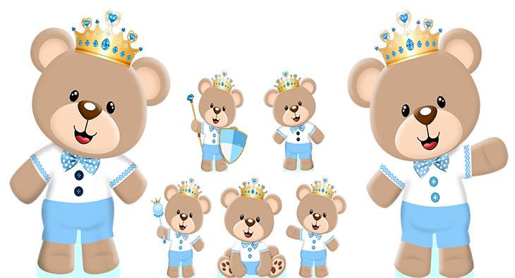 Convites Silverbeco Urso Príncipe