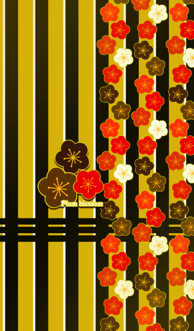 Plum blossoms -Red-
