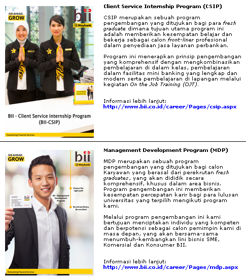 5 Lowongan Kerja BANK BII Terbaru 2019