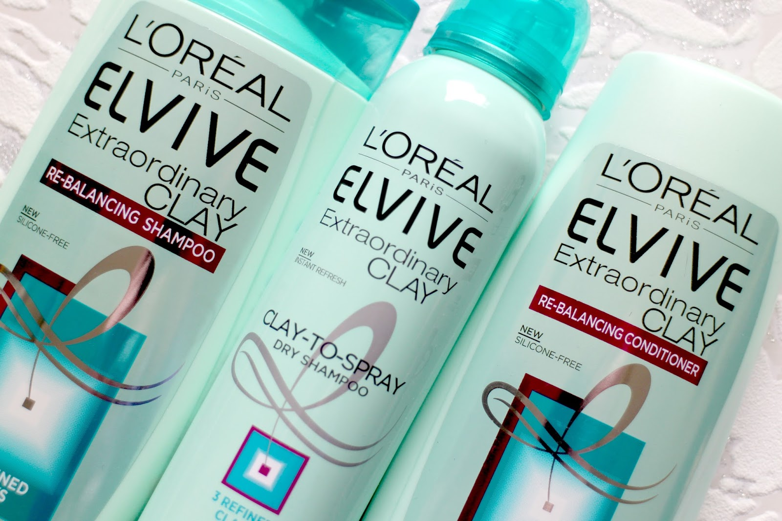 The L'Oreal Elvive Extraordinary Clay Collection