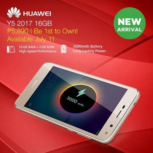 Huawei Y5 2017 Now Available at Lazada for Php5,890; Comes w/ Tons of Freebies