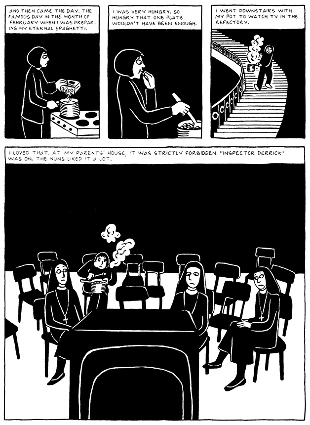 Read Chapter 3 - Pasta, page 22, from Marjane Satrapi's Persepolis 2 - The Story of a Return