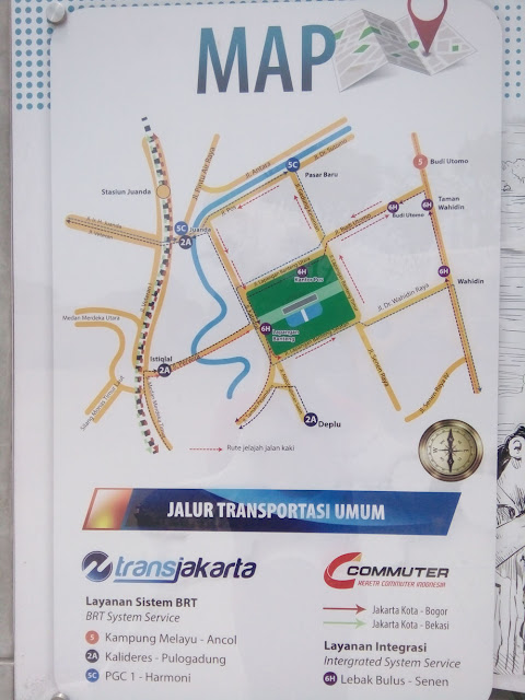 Lapangan Banteng, Maps