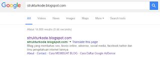 sitelink karena blog kehilangan trafik drastis
