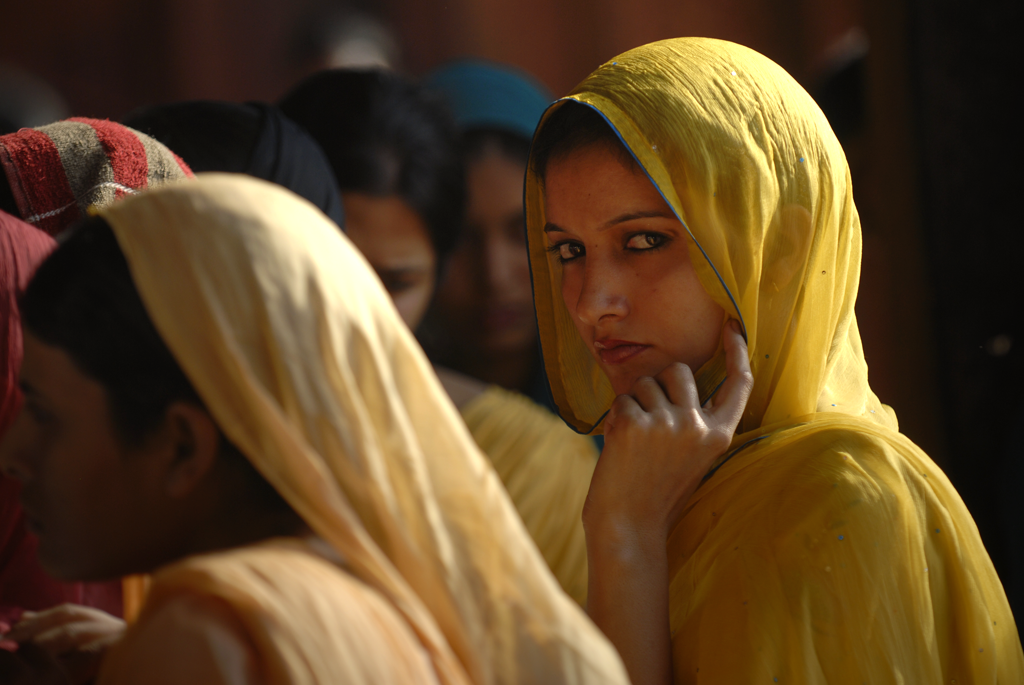 Young woman in Fatehpur Sikri, India submitted to the 'Beautiful Destinations' photo assignment with National Geographic.
