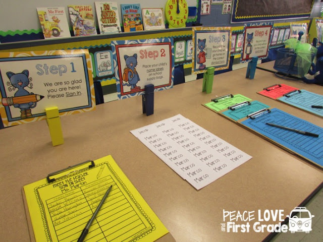 How to set up Meet the Teacher Stations for Open House and Back to School night.