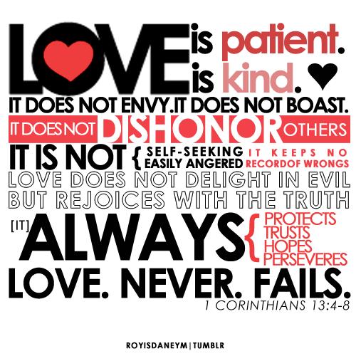 Love in 1 corinthians 13