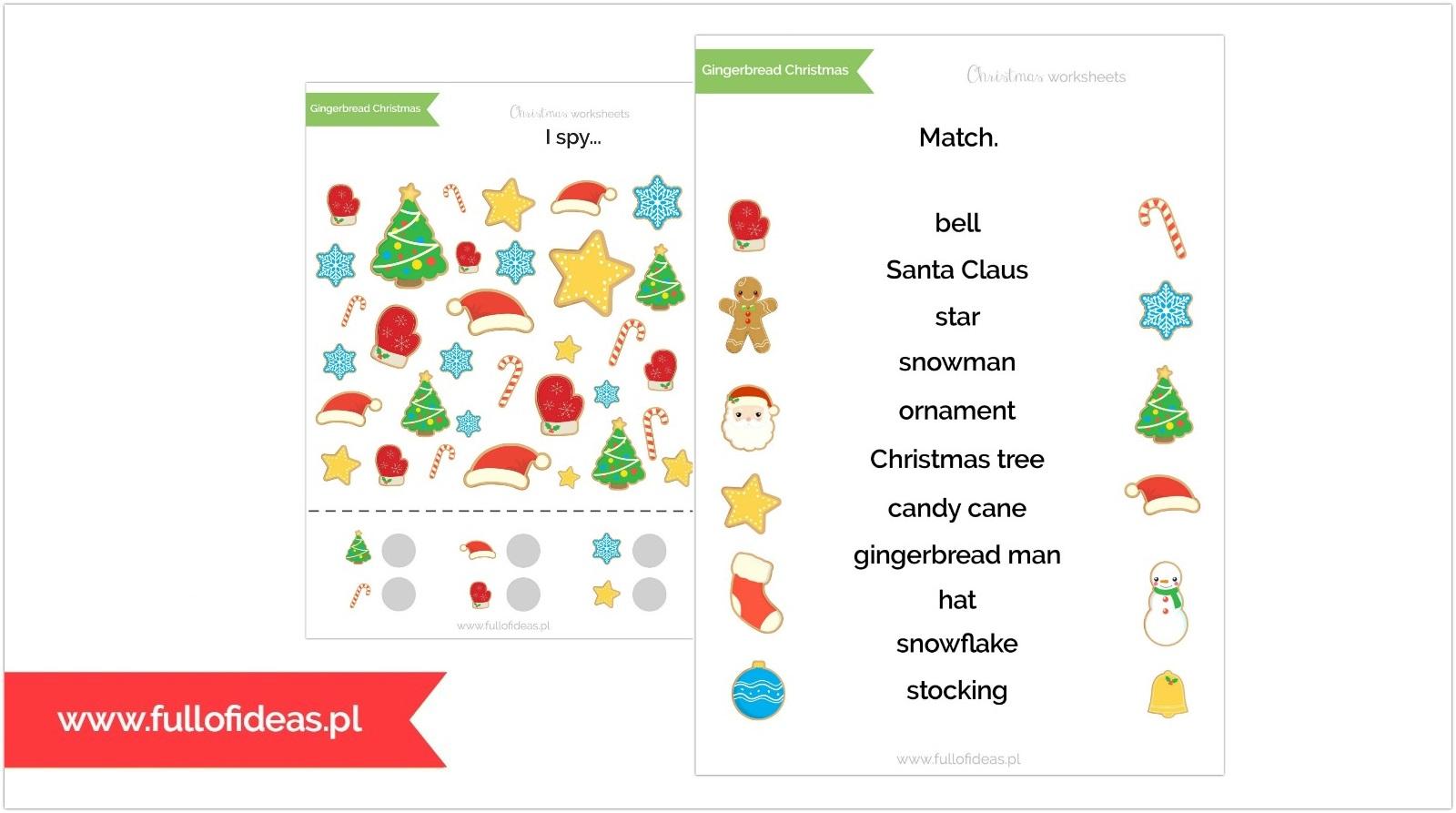 Do Druku Christmas Worksheets Big Pack Head Full Of Ideas