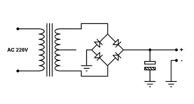 Membuat Adaptor PSU Menggunakan Trafo Yang Memiliki CT (Center Tap)