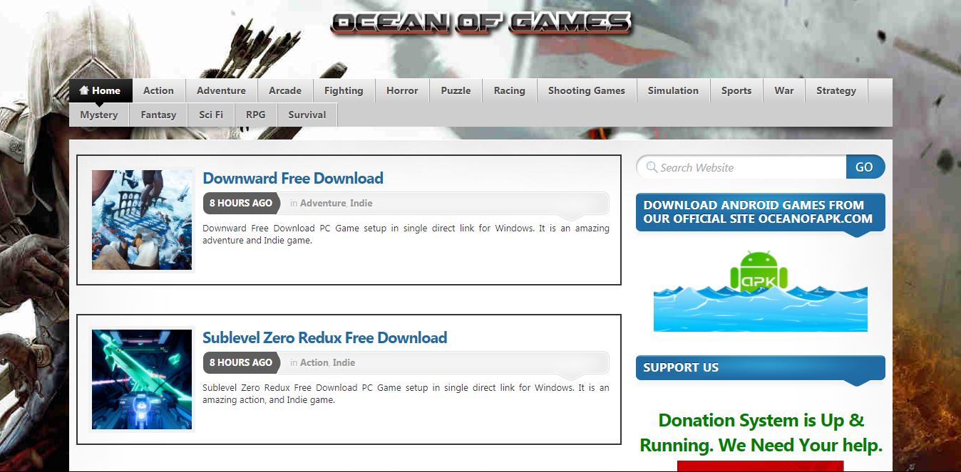 a5ced9a3d2dcf يعد موقع Ocean of Games اشهر موقع لتحميل الألعاب الكاملة للحاسوب وغني عن  التعريف ، الموقع يتميز برفع الألعاب على سيرفرات سريعة جداً و تدعم استكمال  التحميل ...
