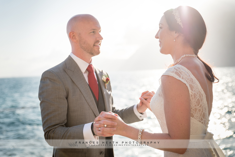Wedding picture on the Amalfi coast