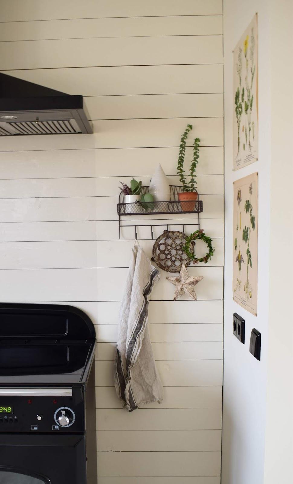 Küche Dekoideen Wand Einrichtung Landhaus dekorieren Aufbewahrung Deko Dekoration