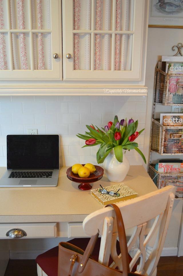kitchen farmhouse desk area