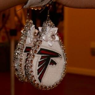 59276efb AngelaPanama.com: DIY Atlanta Falcons Fabric Earrings