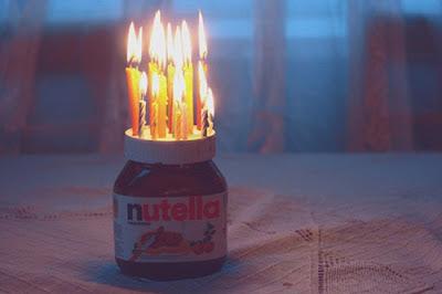 Geburtstag Nutella mit Kerzen