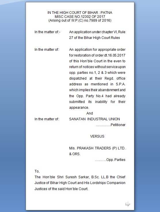 contempt of court application format
