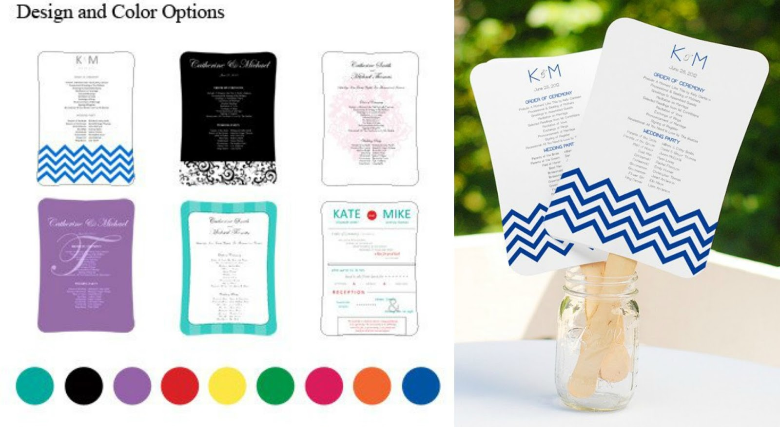 Our fully customizable diy wedding fan program kits if you want something a little fancier you may prefer the graphics available with our diy designer fan program paper kit solutioingenieria Images