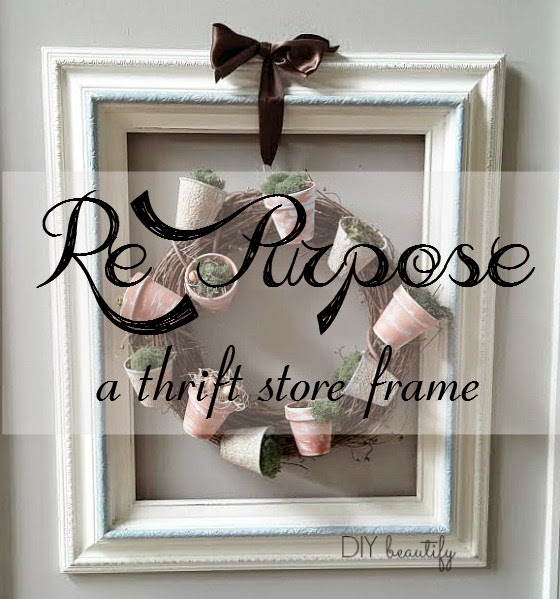 Repurpose an empty frame www.diybeautify.com