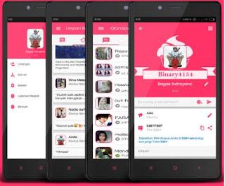 BBM Mod Apk Pinky v3.0.0.18 Terbaru