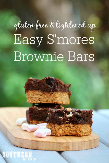 Easy Smores Brownie Bars - gluten free, low fat, low sugar, healthy dessert recipes, snacks, lightened up, skinny recipes