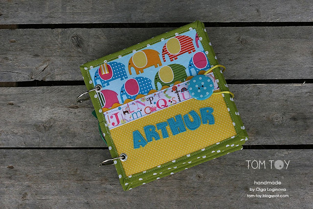 Little quiet book for Arthur by tom toy, baby shower gift idea