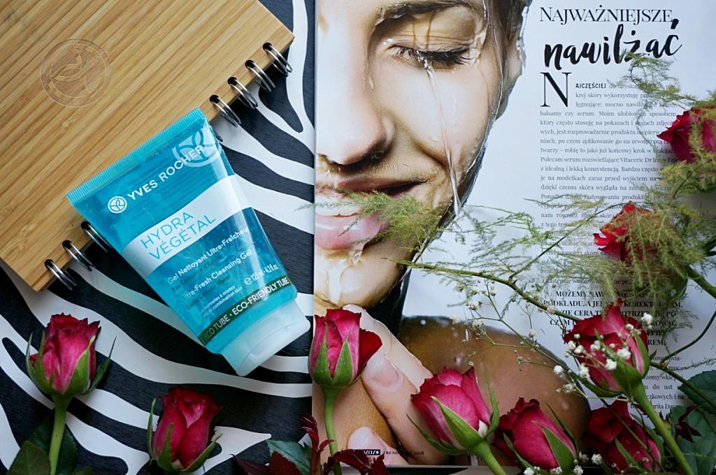 Yves Rocher Hydra Vegetal żel do mycia twarzy oczyszczanie demakijaż