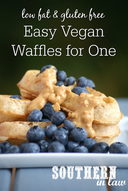 The Best Vegan Waffles Recipe for One - low fat, gluten free, sugar free, dairy free, egg free, vegan, clean eating recipe