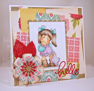 Heather's Hobbie Haven - Tilda with Blue Blanket Card Kit