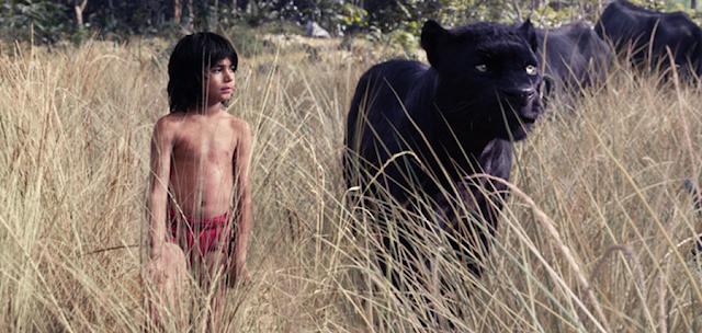 Mowgli şi Bagheera în Cartea Junglei 2016