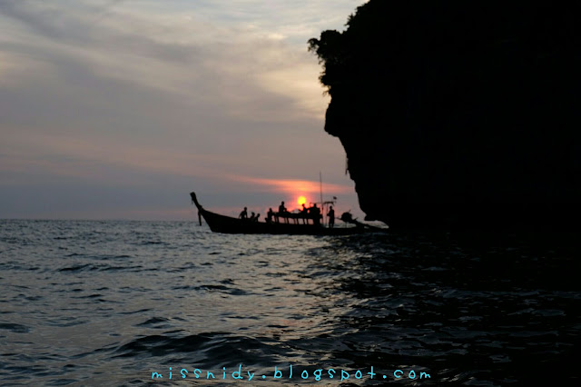 sunset in phiphi island thailand