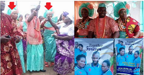 The Wedding Photos of Delta man who marries two wives same day
