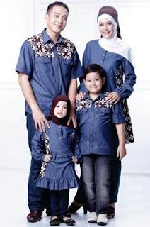 Baju sarimbit batik kombinasi casual