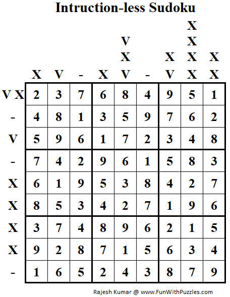 Instruction-less Sudoku Example