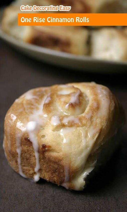 One Rise Cinnamon Rolls #One #Rise #Cinnamon #Rolls #CakeDecoratingEasy