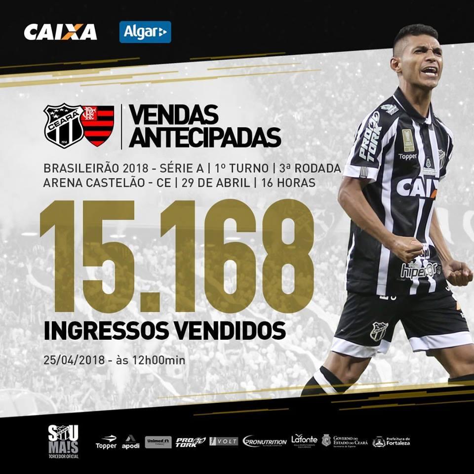Ceará x Flamengo terá recorde de público b74a145900