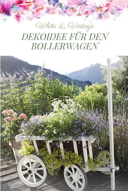 Dekoideen für den Garten: Bollerwagen bepflanzen