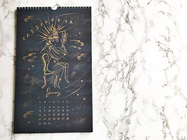 rifle paper co constellation wall calendar january2017 cassiopeia