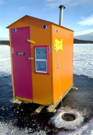 Ice fishing houses - photo#41